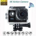 F60-4K 2.0″ LCD 170° Wide Angle Lens 4K HD Wifi Waterproof Sports Action Camera Kit