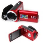 HD 720P Digital video camera with 3MP CMOS Sensor Camcorder Red Li-ion battery