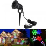CroLED Colorful Snowflakes Light Lamp Waterproof American Standard AC 100-240V