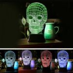 Nightlight Creative Gift Lamp Colorful 3D Skull Visual Light