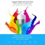 Xiaomi Yeelight Mi 220V 9W E27 LED Wireless WIFI Control Smart Color Light Bulb