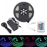 BRELONG 5M 300*5050 SMD Waterproof RGB Lights With Controller 5A +24 Key European//US Regulatory Power AC100-240V