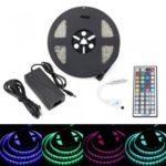 BRELONG 5M 300*5050 SMD Waterproof RGB Strip Lights With Controller 5A +44 Key AC100-240V