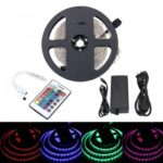 BRELONG 5M 300*5050SMD RGB Strip Lights With Bare Board Controller 5A +24 Key AC100-240V