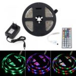 BRELONG 5M 300*2835SMD Waterproof RGB Strip Lights With Controller + 2A +44 Key US/EU Power AC100-240V