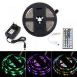 BRELONG 5M 300*2835SMD Waterproof RGB Strip Lights With Controller + 2A +44 Key US/EU Power AC100-240V