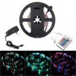 BRELONG 5M 300*3528SMD RGB Strip Lights With Bare Board Controller 2A +24 Key US/EU Power AC110-240V