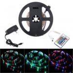 BRELONG 5M 300*3528SMD RGB Strip Lights With Bare Board Controller 2A +24 Key US/EU Power AC110-240V