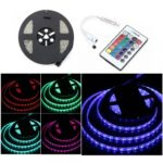 BRELONG 5M 300*5050SMD Waterproof RGB Strip Light +24 Key Controller DC12V