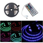 BRELONG 5M 300*5050SMD RGB Strip Lights With Bare Board +44 Keys Controller DC12V