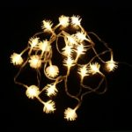 2M-20LEDs LED String Fairy Lights Pine cones Warm White Lighting Christmas Halloween Party Decor DC4.5V