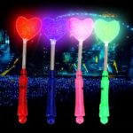 4pcs LED Love Heart Shape Fluorescent sticks Flash Light Glow sticks Concert