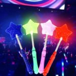 4pcs LED Stars Shape Fluorescent sticks Flash Light Glow sticks Concert