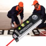 Multipurpose Laser Level Horizontal Vertical Line 8FT Measure Tape Ruler Aligner