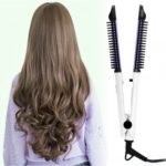 Pro 4 In 1 Multifunction Hair Straightener & Curling Salon Tool Detangling Ceramic Tourmaline Rolling Combs Hot Brush Iron Wave Wand Beauty Massage New