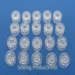 25PCS Household Plastic Coil Reel Sewing Machine Part Bobbin Case 25pcs Transparent Bobbin Storage