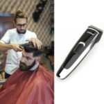 Ultra-quiet charging type stainless steel head electric haircut scissors