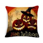 18 x 18 inch Pumpkin Pattern Halloween Cushion Cover 4pcs
