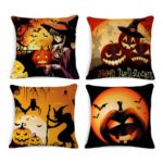 18 x 18 inch 4-Pack Pumpkin Pattern Halloween Cushion Covers