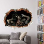 Halloween 3D Wall Sticker Horror Girlghost Wall Decal