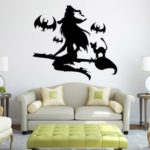 Halloween Vinyl Wall Decals Horror Witch Wall Stickers