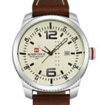 Naviforce 9063 Mens Wrist Watch Leather Band Date Day Display