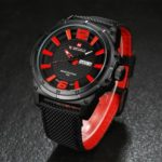 NAVIFORCE 9066 Casual Men's Waterproof Big Dial Quartz Watch