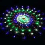 Waterproof 1.5 x 1.5m 160LEDs Spider Web LED String Lights Halloween Decoration