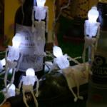 Waterproof 2.5m 10 LEDs Skeleton Decorative String Lights Halloween Decoration
