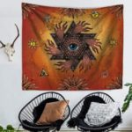 Ancient Art Eye Tapestry Wall Hanging Beach Blanket