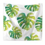 Green Leaf Tapestry Wall Hanging Beach Blanket