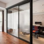 Grids Design Static Frosted Window Film Glass Film