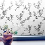 Non-adhesive Static Frosted Flower Pattern Window Film Glass Film