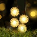 5M Snowball Pattern Solar Powered LED String Lights for Christmas Decor