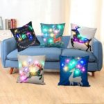 Christmas Cushion Covers with LED Light for Sofa Home Decor