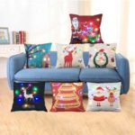 LED Cushion Covers Pillowcase for Christmas Decoration