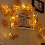 10-LED Christmas Tree Decorative String Lights – Maple Pattern