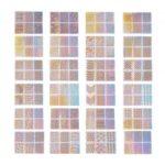 3D Laser Nail Stencil Nail Stamping Plate – 24 Sheets/Set