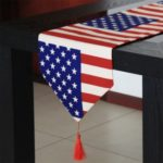 American Flag Pattern Extra Long Table Runners 30 x 180 cm