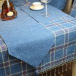 Contemporary Plaid Table Runner with Placemat
