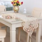 European Classic Embroidery Table Runner with Tassel 40 x 176 cm