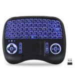 iPazzPort Mini Wireless Keyboard with Touchpad LED Backlit