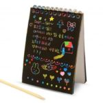 Magic Rainbow Colors Spiral Doodle Book – 5pcs/Set
