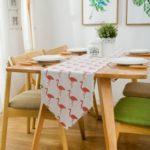 Modern Pink Flamingo Pattern Table Runner 30 x 180cm