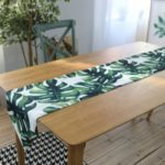 Monstera Leaf Extra Long Table Runner 30 x 180 cm