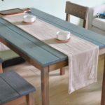 Natural Linen Table Runner 33 x 180 cm