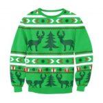 Reindeer and Christmas Tree Women Polyester Sweatshirt
