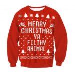 Reindeer Snowflake Christmas Women Sweatshirt