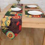 Sunfolwer Double Layer Extra Long Table Runner with Placemat