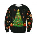 Women's Christmas Tree Printed Sweater